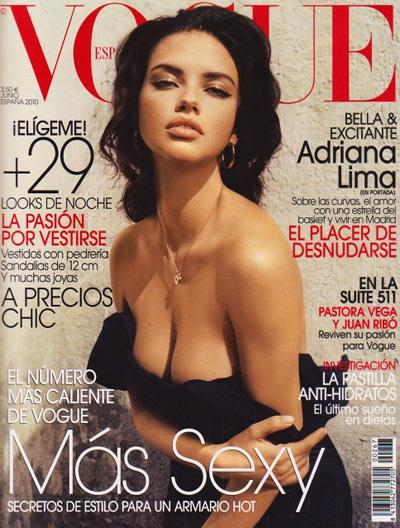 Адриана Лима в журнале Vogue Испания. Июнь 2010