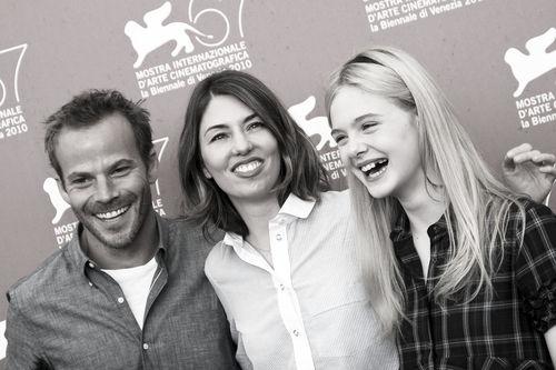 София Коппола, Элль Фаннинг и Стивен Дорфф на премьере фильма в Венеции