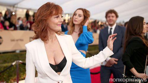 Журналист осудил Сьюзан Сарандон за глубокое декольте