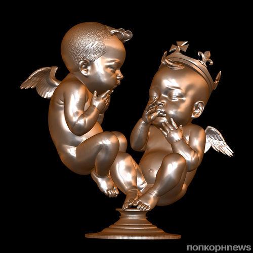 Художник Дэниел Эдврадс создал скульптуру детей Кейт Миддлтон и Ким Кардашян
