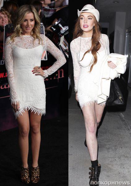 Fashion battle: Эшли Тисдейл и Линдсей Лохан