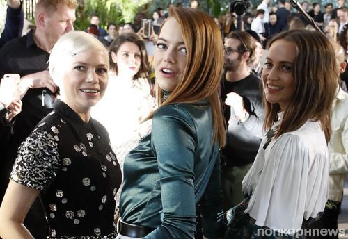 Алисия Викандер, Мишель Уильямс, Эмма Стоун, Кейт Бланшетт: «звездный десант» на показе Louis Vuitton Cruise 2020