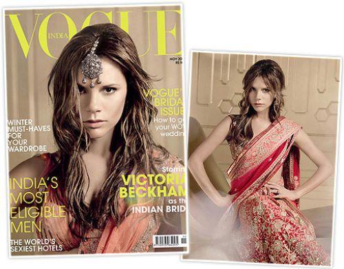 Виктория Бэкхем на обложке индийского Vogue