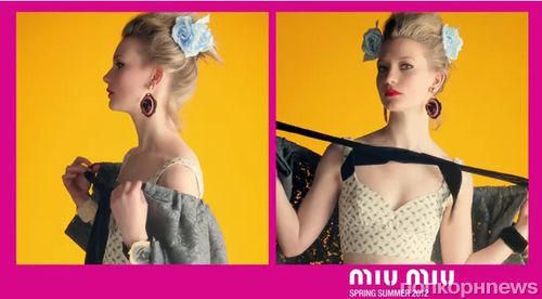 Миа Васиковска в рекламном ролике Miu Miu. Весна / лето 2012