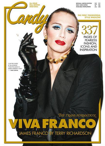 Джеймс Франко на обложке журнала Candy