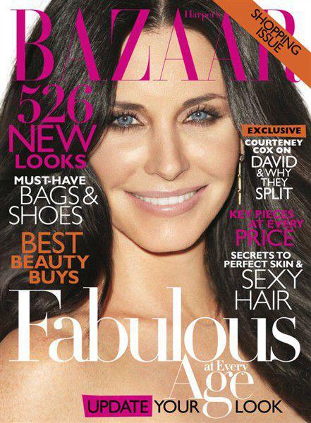 Кортни Кокс в журнале Harper's Bazaar. Апрель 2011