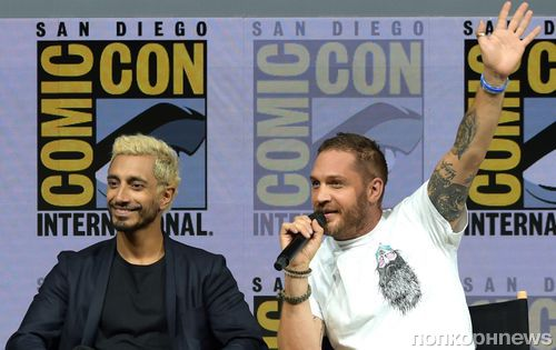 Фото: Том Харди и Риз Ахмед представили «Венома» на Comic-Con