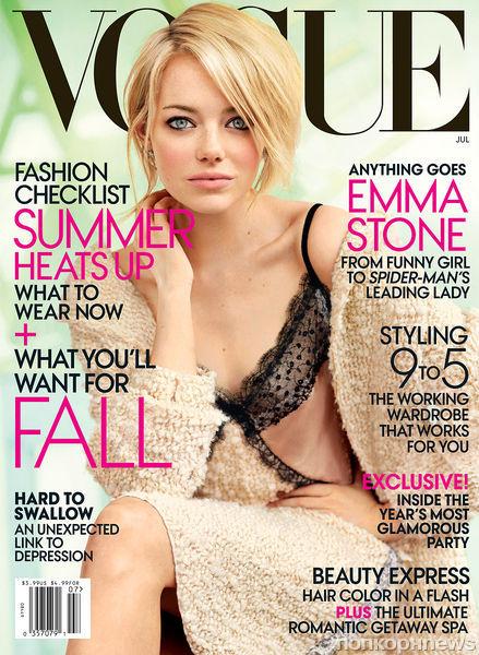 Эмма Стоун в журнале Vogue. США. Июль 2012