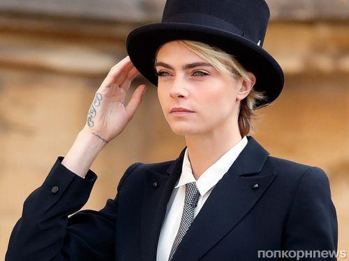 Кара Делевинь получила специальное разрешение надеть смокинг на свадьбу принцессы Евгении