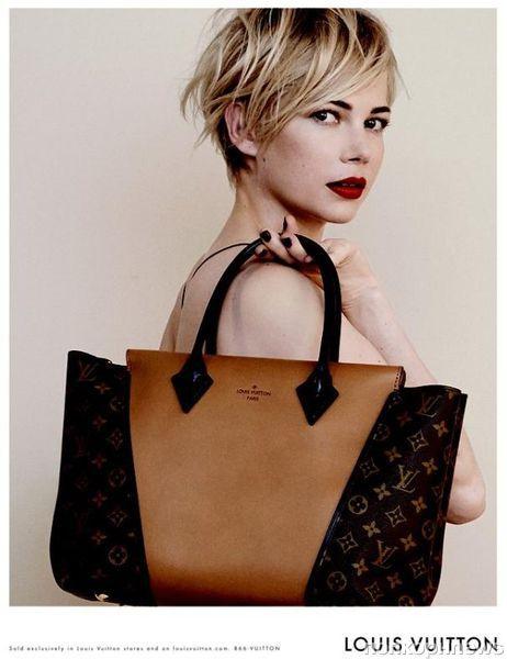 8a7a858c9db8 Мишель Уильямс в рекламной кампании сумок Louis Vuitton  первый взгляд