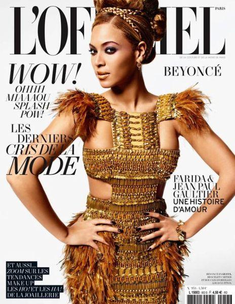 Бейонсе - африканская принцесса. L'Officiel Paris. Март 2011