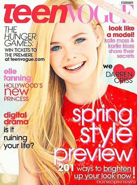 Эль Фаннинг в журнале Teen Vogue. Февраль 2012