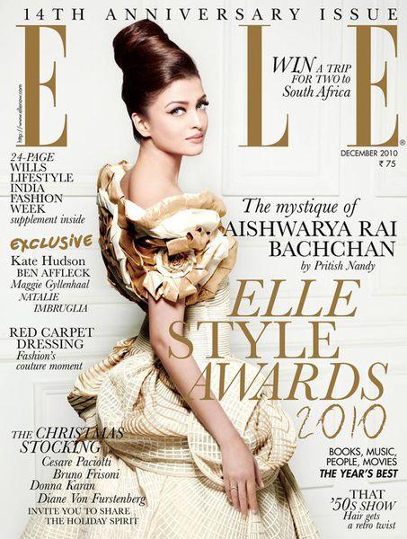 Айшвария Рай в 14-ом юбилейном выпуске журнала Elle