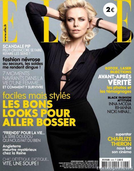 Шарлиз Терон в журнале Elle Франция. Январь 2012