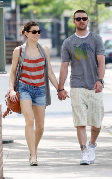 Джастин Тимберлейк и Джессика Бил в Нью-Йорке