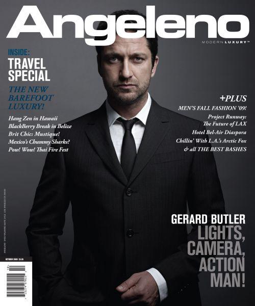 Джерард Батлер в журнале Angeleno. Октябрь 2009