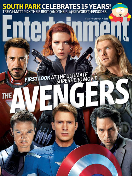 Супергерои из фильма «Мстители» в журнале Entertainment Weekly
