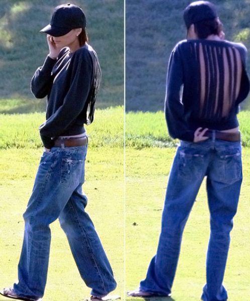 Обычные классические джинсы Виктории Бэкхем