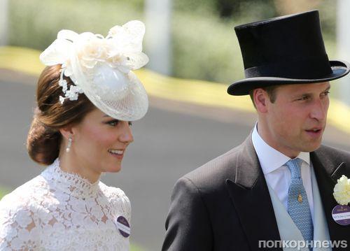 Фото: Кейт Миддлтон и принц Уильям на знаменитых ежегодных скачках в Аскоте