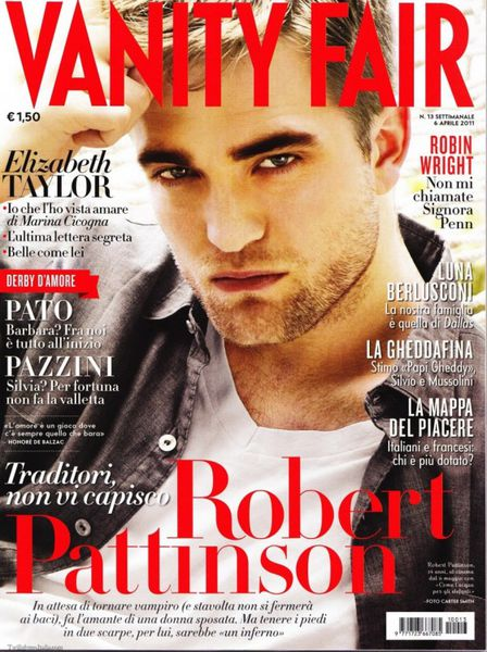 Роберт Паттинсон в журнале Vanity Fair Италия. Апрель 2011