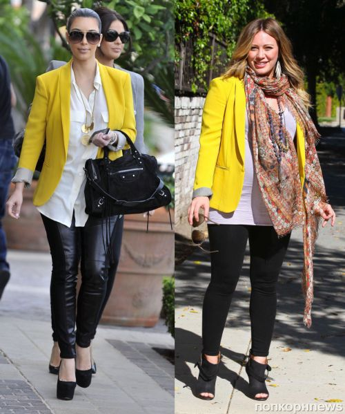 Fashion battle: Ким Кардашиан и Хилари Дафф