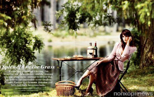 Джемма Артертон в журнале InStyle. Октябрь 2013