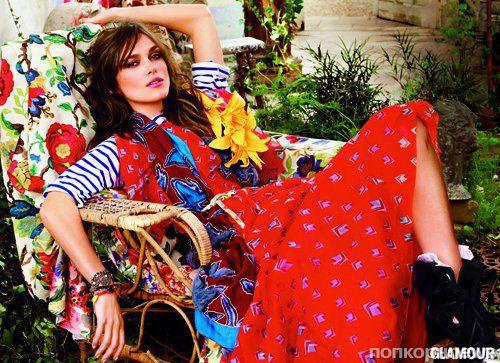 Кира Найтли в журнале Glamour. Июль 2014
