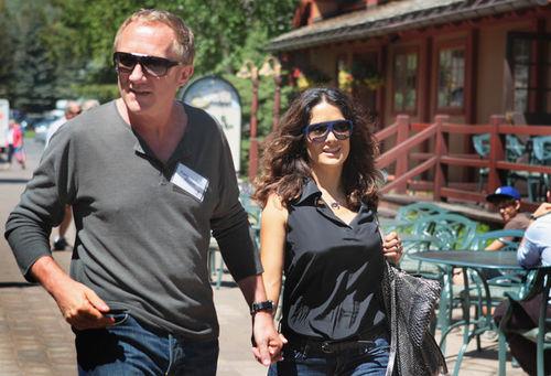Сальма Хайек и Франсуа Анри-Пино в Сан-Валли
