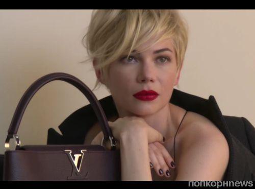 Мишель Уильямс на съемках рекламной кампании Louis Vuitton