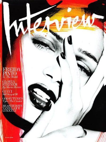 Фрида Пинто в журнале Interview. Август 2011