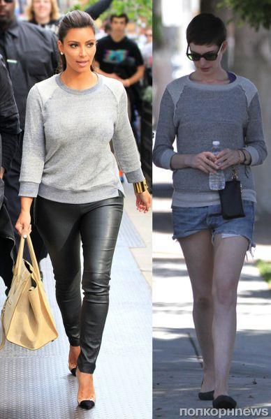 Fashion battle: Ким Кардашиан и Энн Хэтэуэй