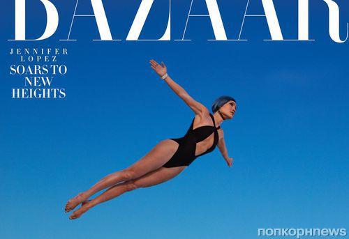 Джей Ло примерила образ прыгуньи в воду в новом фотосете для Harper's Bazaar