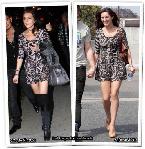 Fashion battle: Линдсей Лохан и Келли Брук