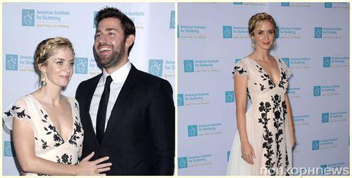 Фото: Эмили Блант и Джон Красински на благотворительном приеме в Нью-Йорке