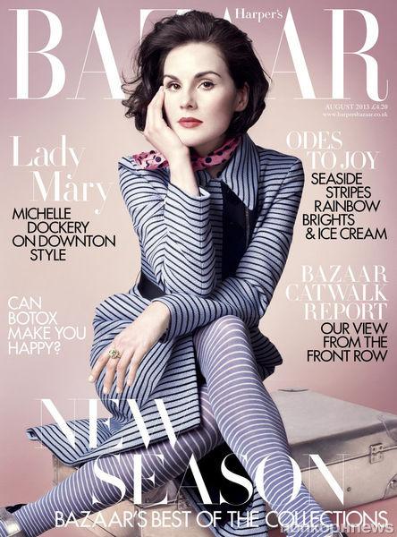 Мишель Докери в журнале Harper's Bazaar UK. Август 2013