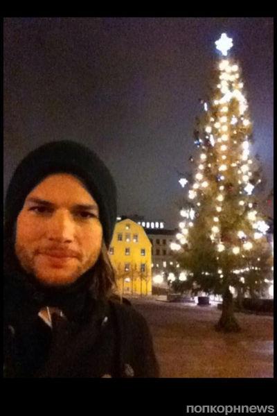 Рождество Эштона Кутчера в Италии