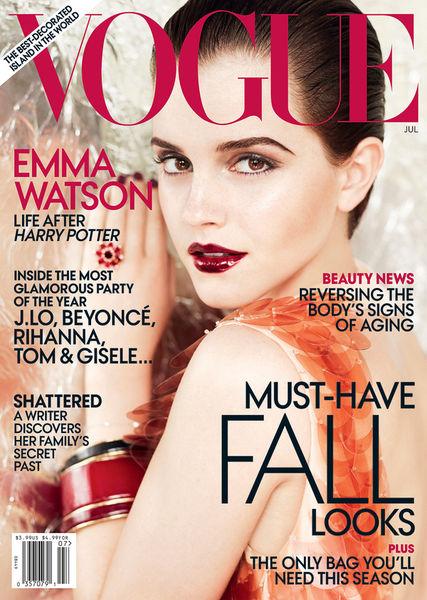 Эмма Уотсон в журнале Vogue. Июль 2011