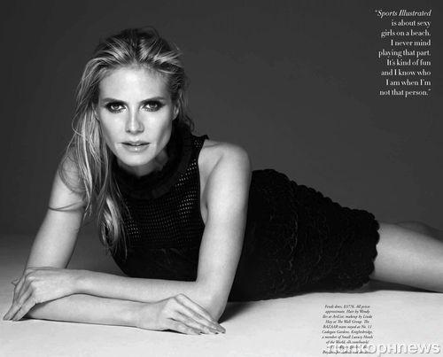 Хайди Клум в журнале Harper's Bazaar Австралия. Июнь / июль 2016