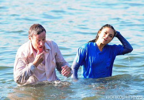 Мила Кунис и Робин Уильямс на съемках фильма «Самый злой человек в Бруклине»