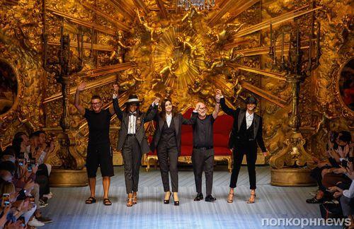 Фото: Моника Беллуччи вышла на подиум в рамках показа Dolce & Gabbana