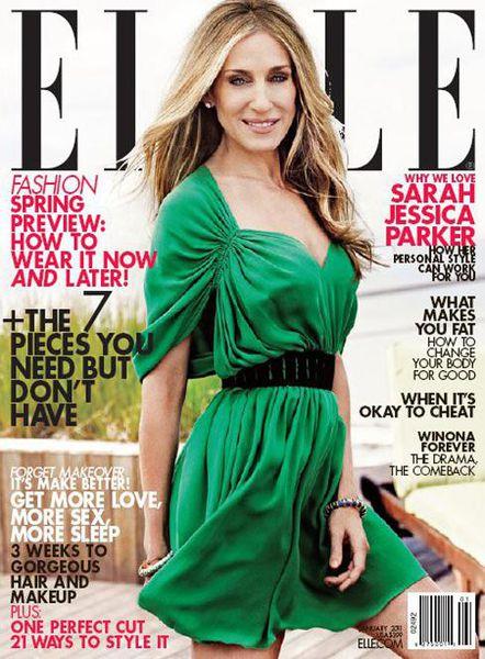 Сара Джессика Паркер в журнале Elle. Январь 2011
