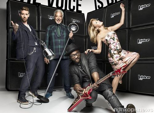 Кайли Миноуг в промо британского The Voice