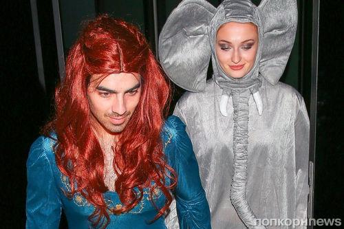 Джо Джонас отметил Хэллоуин в образе своей невесты Софи Тернер из «Игры престолов»