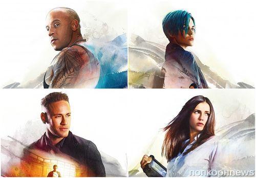 Вин Дизель, Нина Добрев, Руби Роуз на новых постерах «Три Икса: Мировое господство»