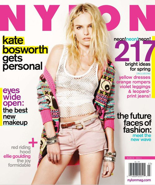 Кейт Босуорт в журнале Nylon. Март 2011