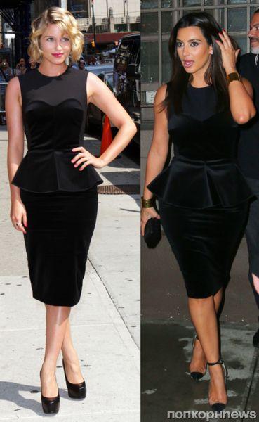 Fashion battle: Дианна Агрон и Ким Кардашиан