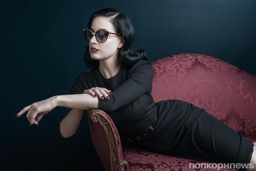 Дита фон Тиз в рекламной кампании DITA Eyewear: первый взгляд
