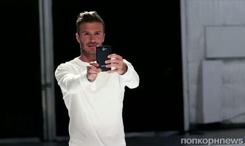 Дэвид Бэкхем в рекламном ролике Samsung Galaxy Note