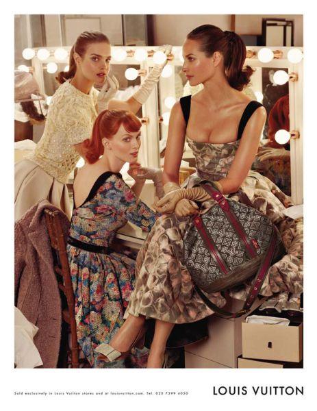 Наталья Водянова, Кристи Терлингтон и Карен Элсон для Louis Vuitton Fall/Winter 2010-2011
