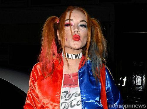 Фото: Линдси Лохан нарядилась в костюм Харли Квинн на Хэллоуин